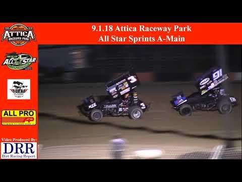 9.1.18 Attica Raceway Park All Star Sprints A-Main
