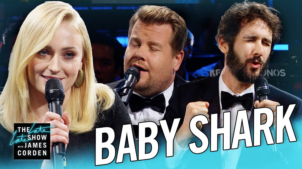 The Biggest Baby Shark Ever W Sophie Turner Josh Groban Youtube
