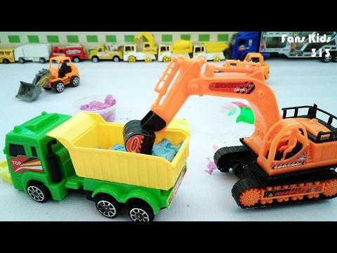 ToysTruck dan Playsand I Mainan Anak Pasir ajaib, Truk & Excavator