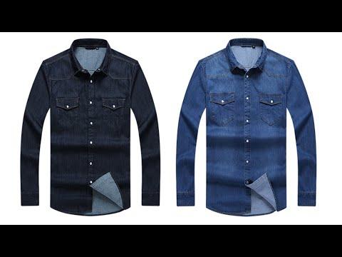 Две отличные джинсовые рубашки с Алиэкспресс