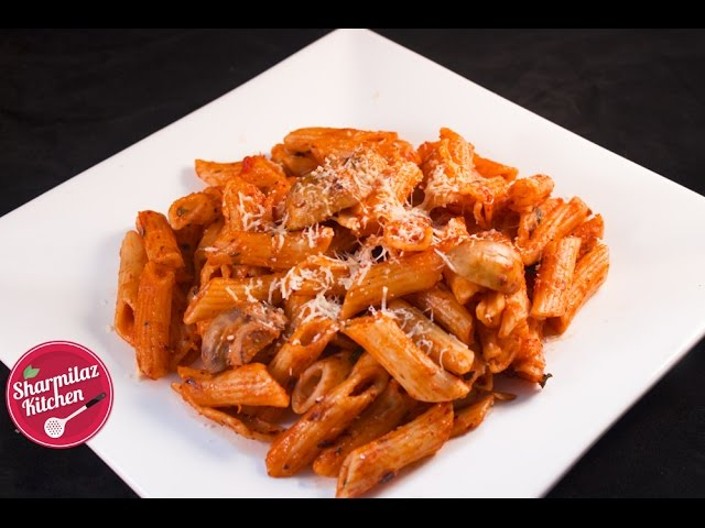 Red Sauce Pasta Recipe Mushroom Pasta In Creamy Tomato Sauce With Indian Twist Sharmilazkitchen Youtube