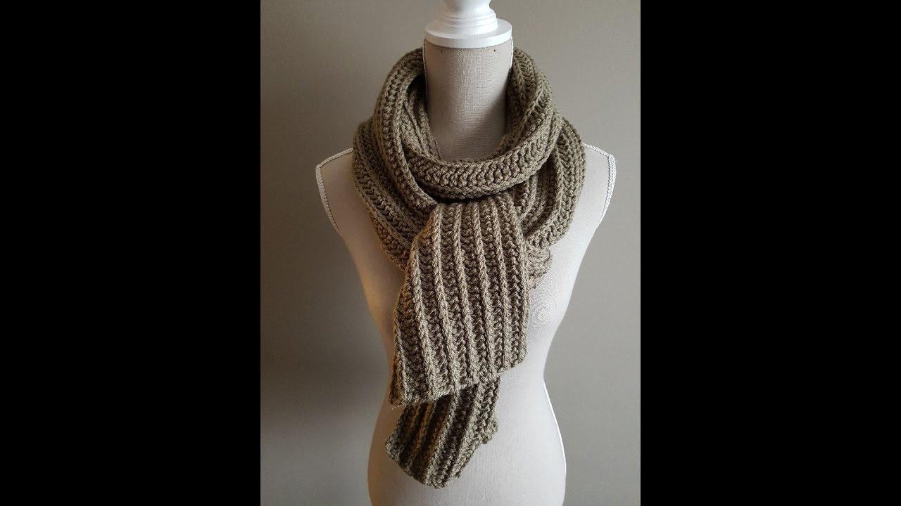 Sjaal Met Reliëf Halve Stokjes Crochet Scarf Relief Hdcs
