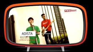 Video Adista - Rasa Sakit (Official Lyric Video) download MP3, 3GP, MP4, WEBM, AVI, FLV Februari 2018