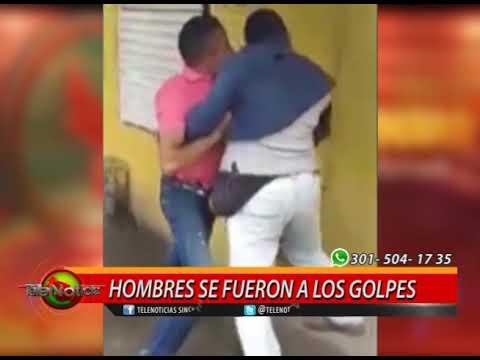 HOMBRES SE FUERON A LOS GOLPES