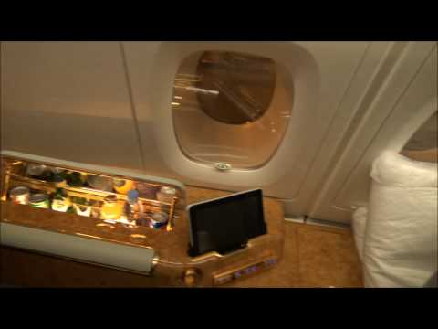 HONG KONG INTERNATIONAL AIRPORT EMIRATES LOUNGE to A380 First Class Boarding