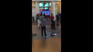 Dylan Jacob Mad freestyle Fremont Street Rapper Las Vegas