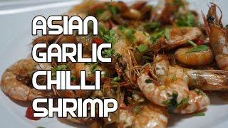 Chili Garlic Shrimp Stir Fry Recipe - Asian Wok Prawn Video