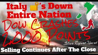 Global Stock Markets Crash, Trading Halted After Dow Plunges 2,000 Points, All Of Italy Shut Down!