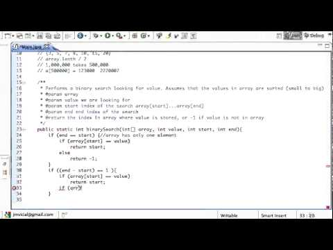 Java Binary Search Algorithm, Program with Recursion Tutorial