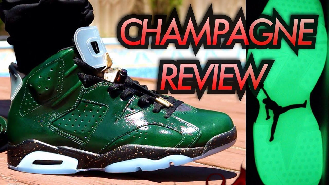 34f129c5e16bfd 41d88 a956f  store champagne air jordan 6 glow test on feet review youtube  b5a31 5ee5a
