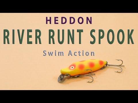 HEDDON RIVER RUNT SPOOK Swim Action / ヘドン リバーラントスプーク ルアーアクション