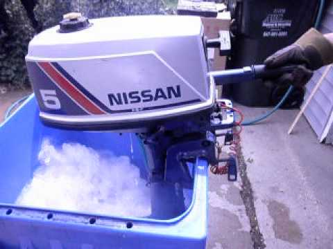 Nissan 5 hp outboard motor  YouTube