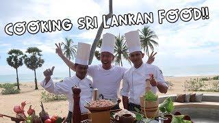 COOKING SRI LANKAN FOOD WITH SRI LANKANS IN SRI LANKA Vlog 108