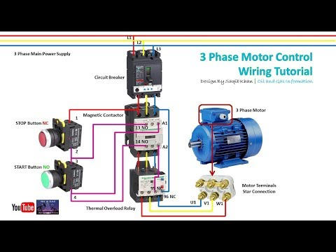 3 Phase Motor Control Wiring Tutorial | Rig Electrician Training