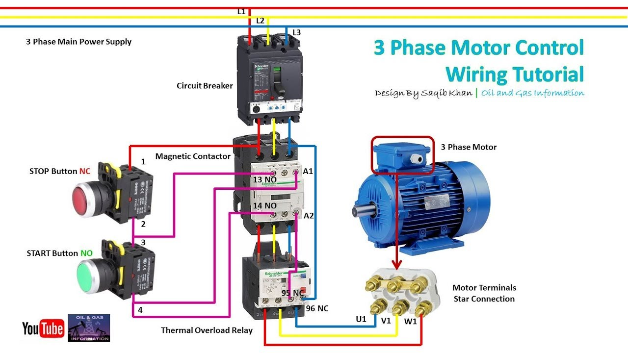 3 Phase Motor Control Wiring Tutorial