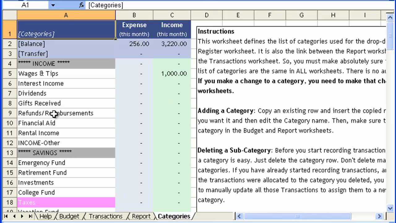 Money Management Template Tutorial #1 - Customizing Budget ...