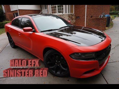 2015 Dodge Charger - Full Liquid Wrap Halo Efx Sinister Red | DG Custom CLT