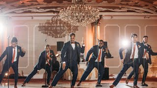 Groom Performs Can You Stand the Rain with his Groomsmen