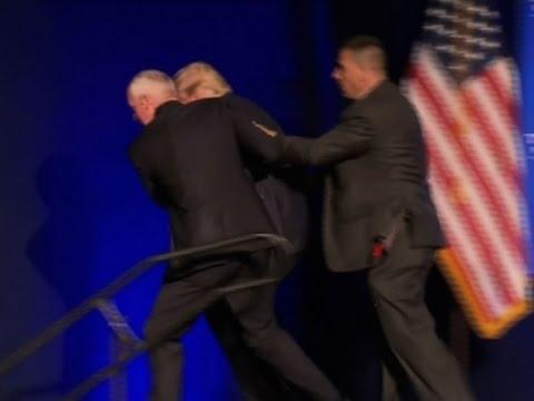 Trump Hustled Off Stage in Nev. Amid Disturbance