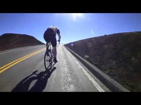 Final Push: Road Cycling up Haleakala Summit Maui Hawaii