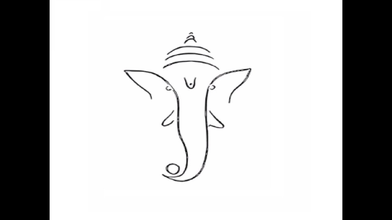 How To Draw Ganpati Bappa Face Pencil Drawing Step By Step Youtube
