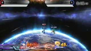 Smash Attack 3 - SSB4 Singles - MintyFlesh (Mega Man) vs DA Jash (Toon Link)