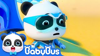 Download Super Panda Trapped in Desert | Super Panda Rescue Team | BabyBus Cartoon Mp3 and Videos