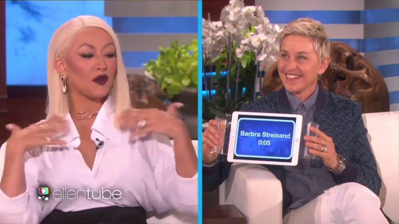 Christina Aguilera plays