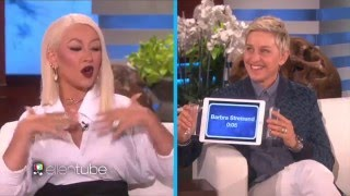 "Christina Aguilera plays ""Heads Up""on the Ellen Show"