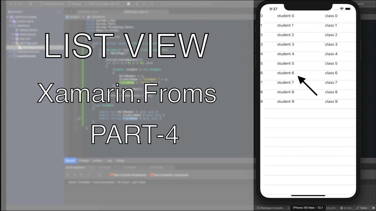 ListView in Xamarin Forms | Xamarin Forms Cross Platform Application