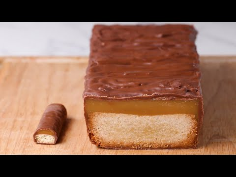 Giant Caramel Candy Bar Cake