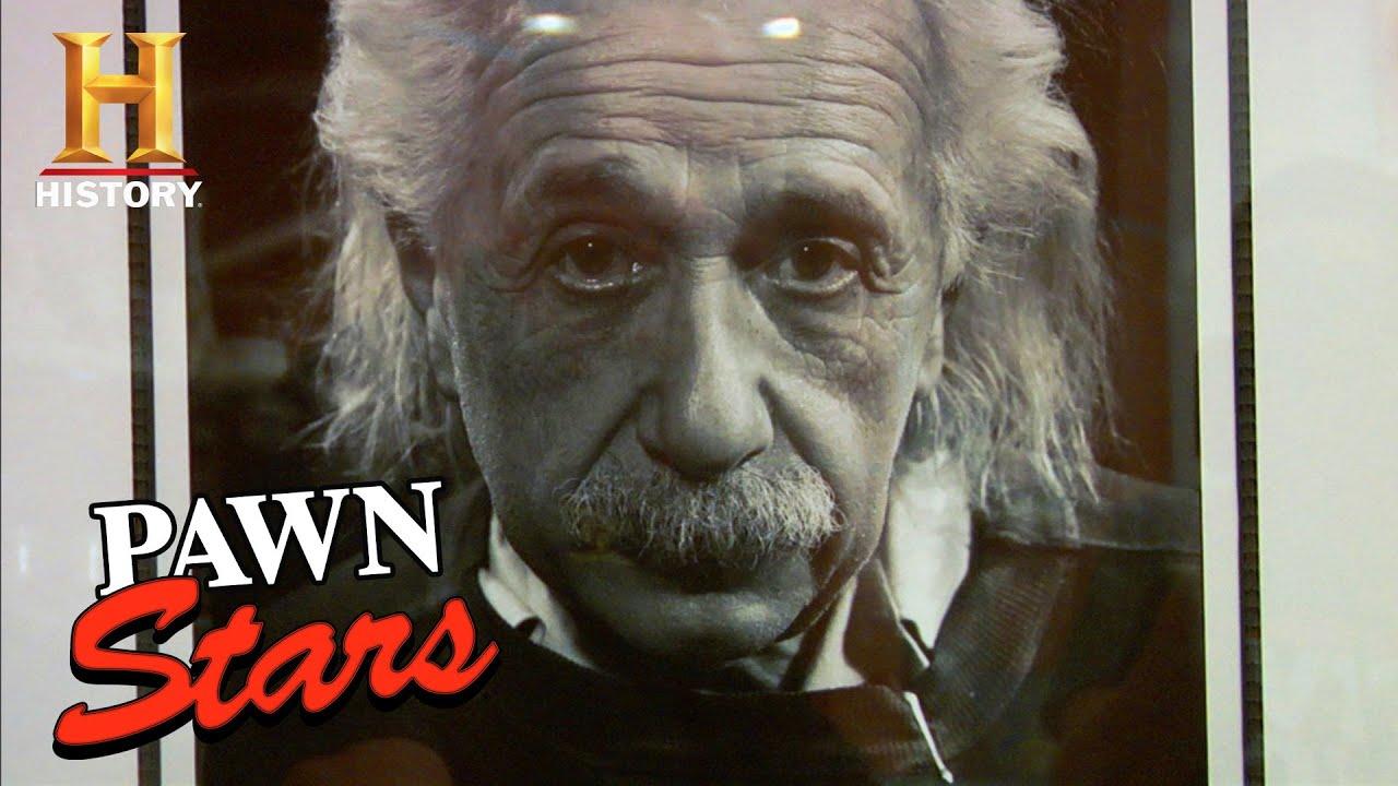 Pawn Stars: GENIUS DEAL for RARE Albert Einstein Photo (Season 5)   History