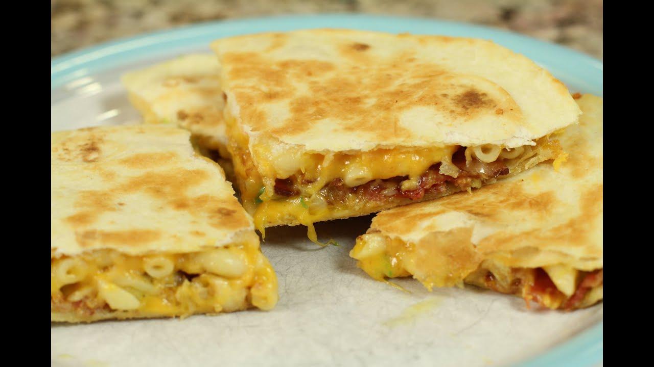 Macaroni And Cheese Quesadilla by Rockin Robin - YouTube