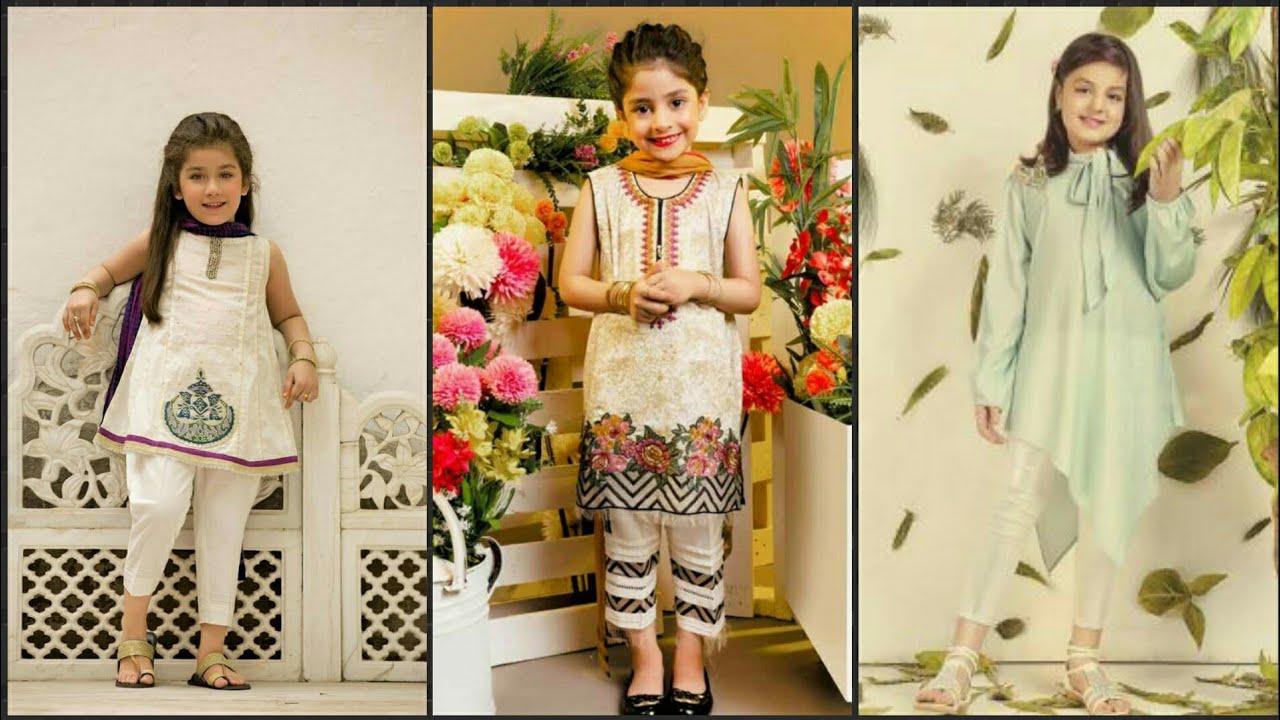 Summer Ideas For Kids 2019 Kids Eid Kurti ,Kurta Summer Design Ideas For Little Girls 2019
