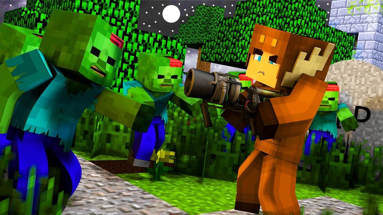 Minecraft ZOMBIE APOCALYPSE SURVIVAL - DOUBLE THUNDERGUN! (Episode 12)
