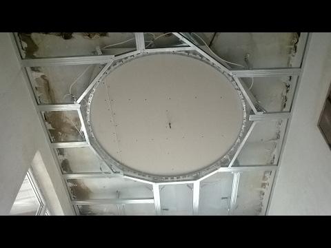 видео: Как сделать потолок из гипсокартона .