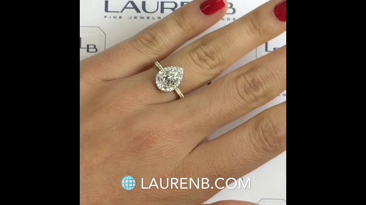 110 carat pear shape diamond engagement ring youtube 110 carat pear shape diamond engagement ring nvjuhfo Choice Image