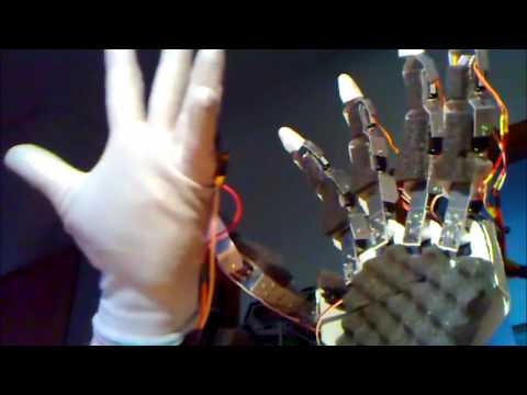 Robotic Hand Development with the use of microcontrollers, MSc Thesis