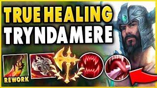 DEATHS DANCE REWORK MAKES TRYNDAMERE UNKILLABLE! INFINITE HEALING! - League of Legends