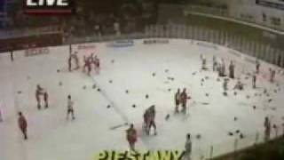 Canada vs U.S.S.R 1987 Bench clearing brawl