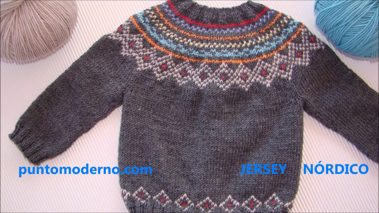 JERSEY de BEBÉ NÓRDICO, BABY CARDIGAN- ESPAÑOL-ENGLISH PATTERN - YouTube