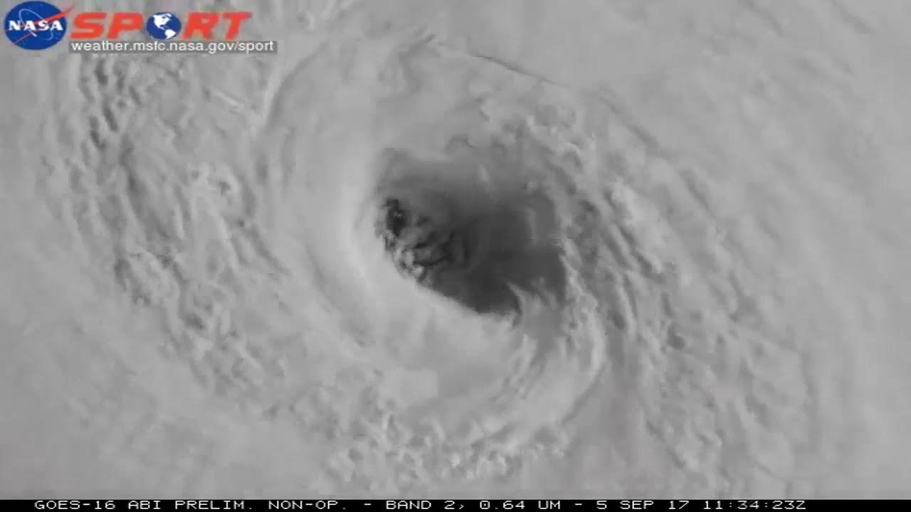 Satellite Image Captures Eye Of Hurricane Irma Youtube