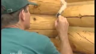 Герметизация и утепление срубов. Герметик CONSEAL(Герметик для деревянного дома .разработан и применяется в архитектурном строительстве для герметизации..., 2015-07-23T17:45:06.000Z)