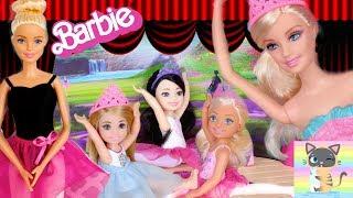 Barbie Ballerina Chelsea Doll School Ballet Recital Dance Performance Stage Disney Princess Frozen