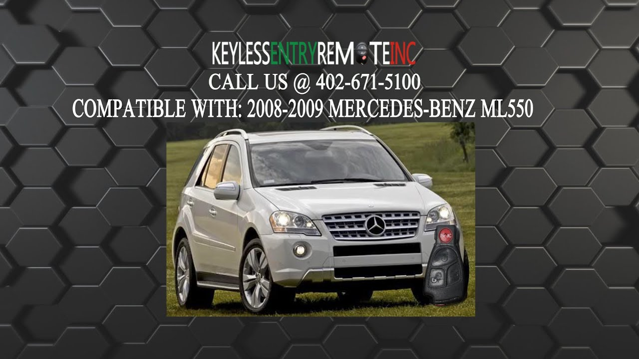 How To Replace Mercedes Benz ML550 Key Fob Battery 2008 ...