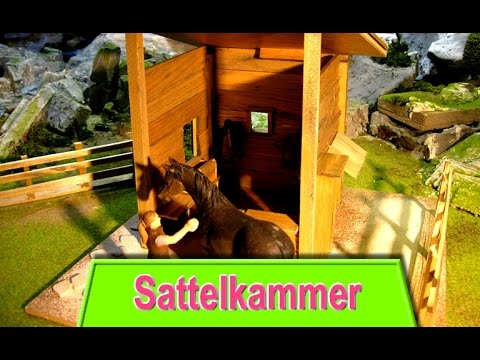 sattelkammer f r schleich pferdestall bauen stall youtube. Black Bedroom Furniture Sets. Home Design Ideas
