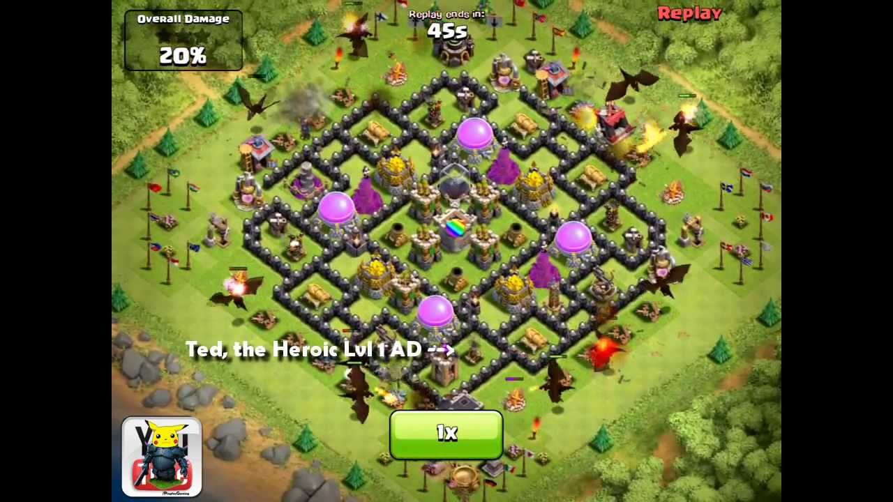 Clash of Clans [EPIC] Lvl 1 Air Defense v. 10 Dragons ...