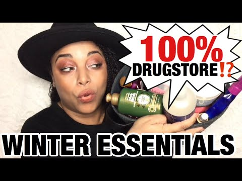 100% DRUGSTORE WINTER ESSENTIALS for HIGH POROSITY NATURAL HAIR + SOME DISAPPOINTMENTS || MelissaQ