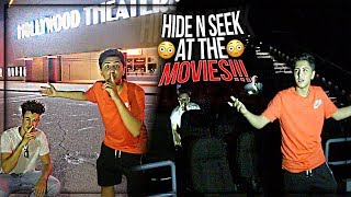SCARY HIDE AND SEEK IN A GIANT MOVIE THEATER (KICKED OUT)