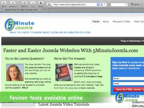Adding A Favicon.ico To Your Joomla Website